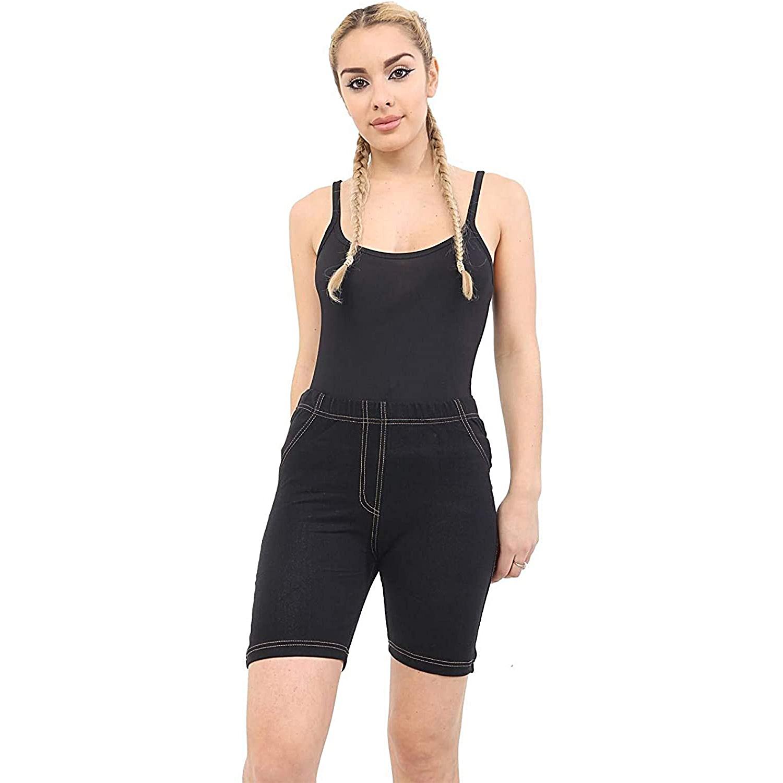 MMT (BG-9-iii) Women Soft Stretch Denim Shorts