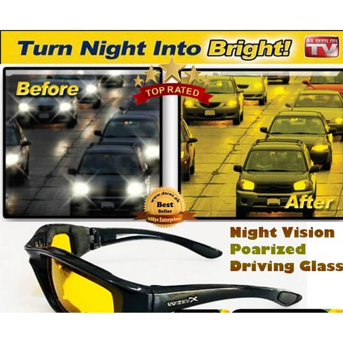 Day and Night Vision Glasses For Men Bike, Car Drivers Anti Glare Polarized Night Driving Unisex Sunglasses Goggles Auto Accessories