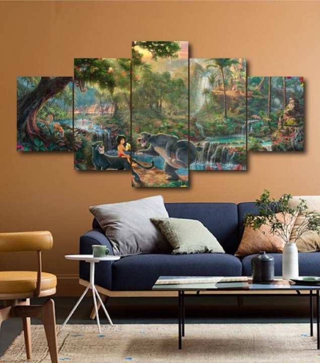 Wall Frames 5 Pieces Set Canvas - Digitally Printed Wall Canvas Frames -195