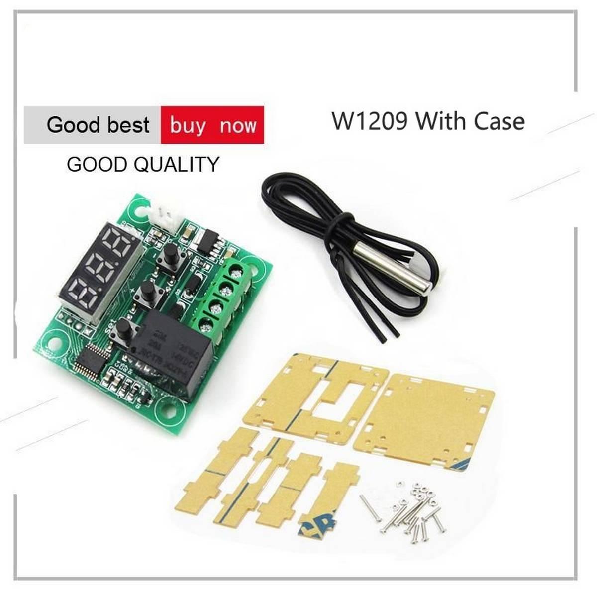 W1209 12V Digital Thermostat Temperature Thermo Controller Switch Module & Case