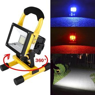 Best Quality 30W Rechargeable LED Flood Light Super Bright LED Flash  Lighting 360° Adjustable Foldable Stand for Camping and Commercial Use