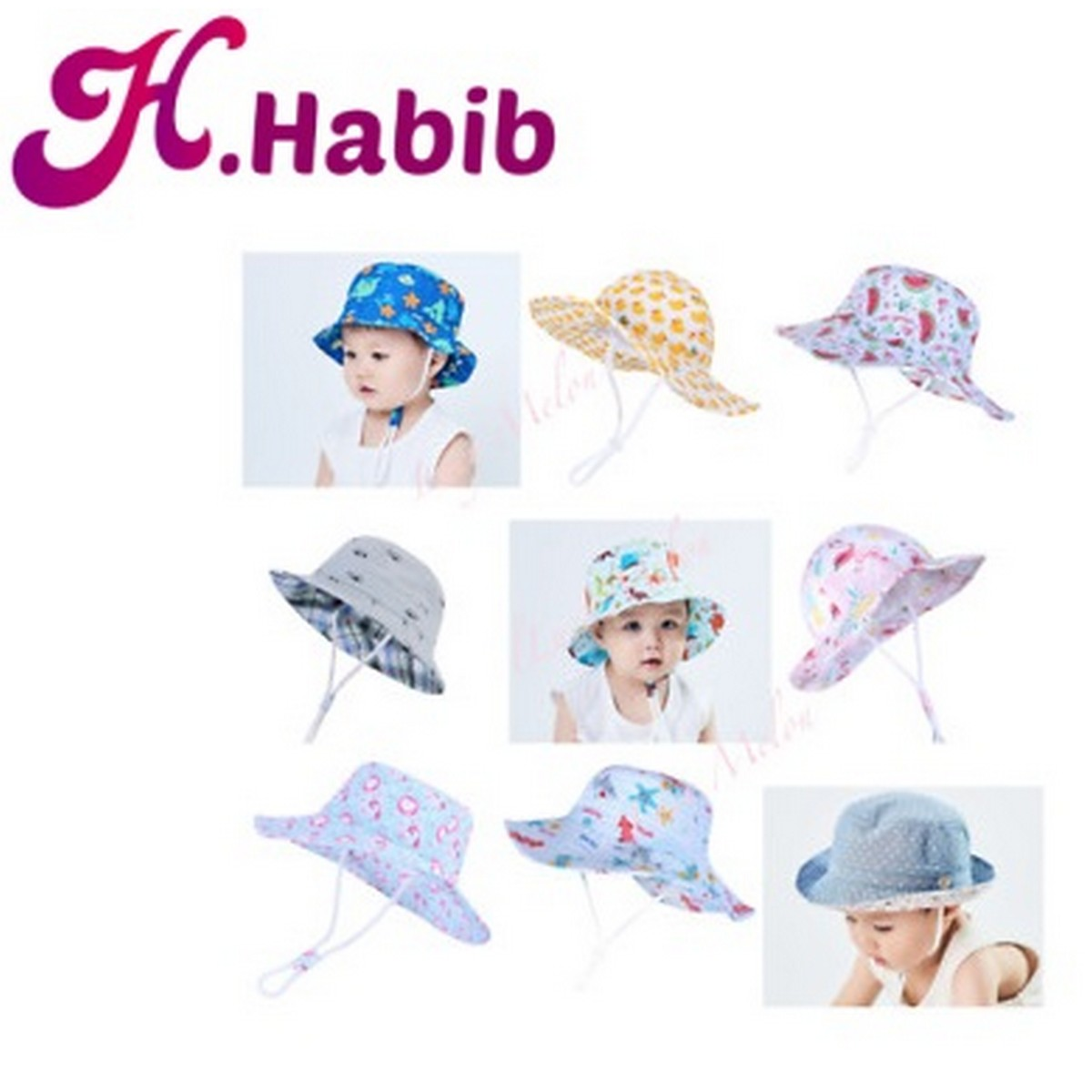 Polka Dot Hat Soft Summer Baby Sun Cap Girls Cotton Hat Baby Bucket Hat for 3 months to 3 Year Babies Random Prints Random Colors Baby Hat for Summer for Infants toddler