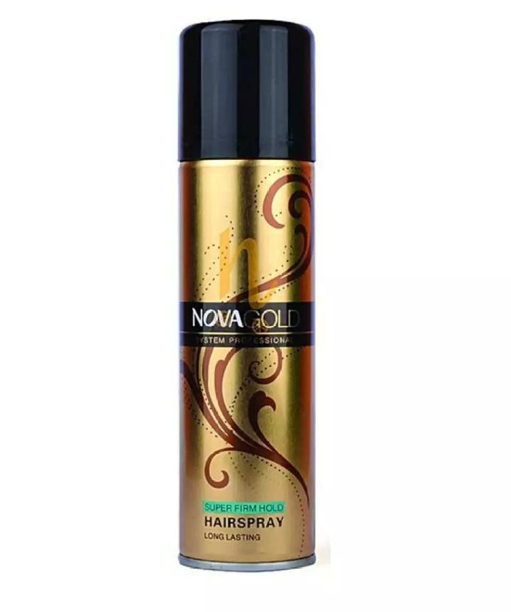 Nova Gold Hair Spray - Super Firm Hold Professional Hairs Spray Long Lasting For Men & Women