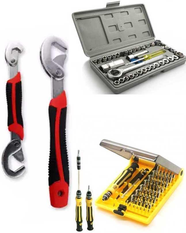 Pack Of 3 Tool Kit - Wrench & Professional Hardware Tools