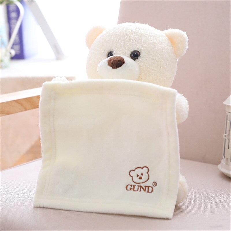 Peek A Boo Teddy Bear Animated Stuffed Animal Soft Plush Toy