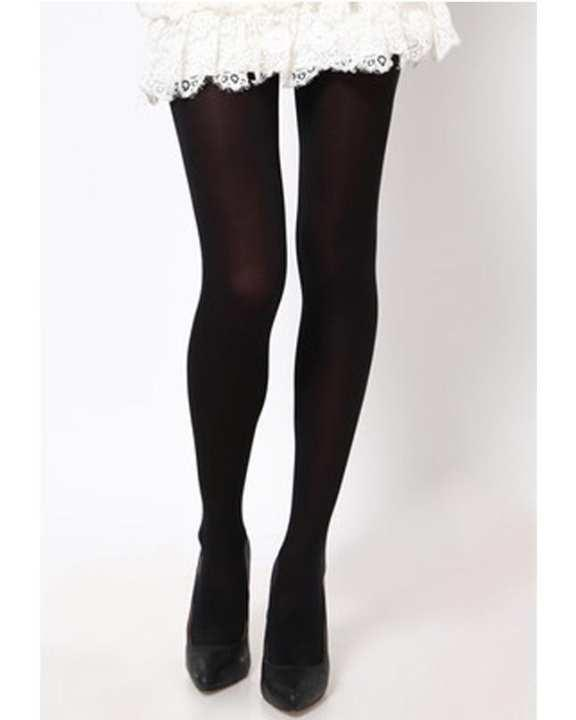 Opaque (Not See Through) Black Stockings for Women