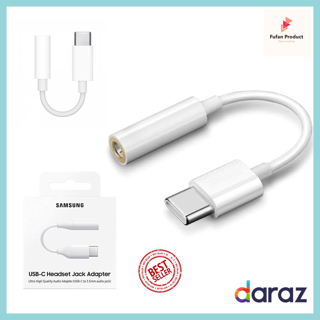 C type handsfree connector to 3.5mm - Original type C headphone handfree converter - type C to 3.5mm jack adapter for headphone with Aux cable - Headphone jack adapter type c - Handfree jack USB type c - Headphone 3.5mm Converter  for type C