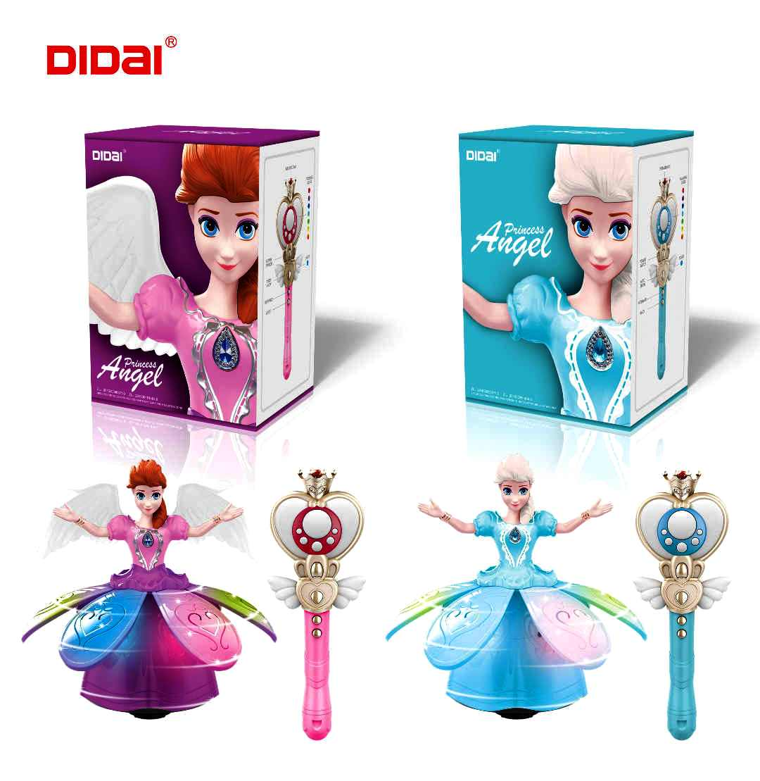 New DIDAI Infrared Remote Control Girl Dancing Princess Light Music Dancing Doll Cross Border Hot Selling Toy Gift