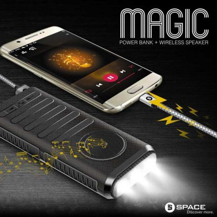 Magic model MG-090 ( Wireless Speaker With Led Flash Light)