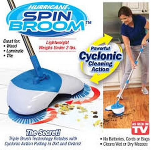 Hurricane Magic Spin Broom - Top Quality - Spinning Broom For Sweeping