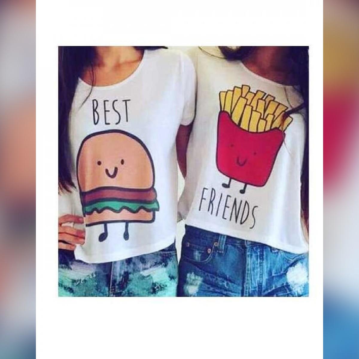 Pack of 2 BEST FRIENDS Printed tshirts