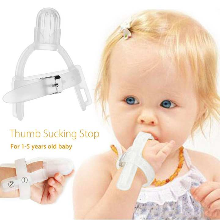 Thumbsucking Silicone Thumb Sucking Stop Finger Guard For 1-5 years Baby Kids