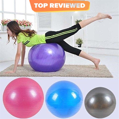 Original Size Exercise Ball Fitness Anti-Burst Yoga Ball Gym Ball (Free Air Pump Included)