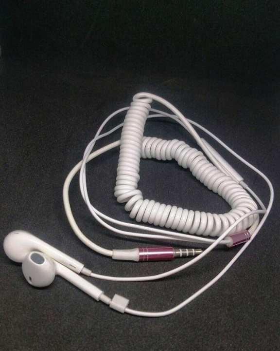 Brand New Telephone wired spiral Handsfree for All smart phones and Androids having Compatibility with most phones