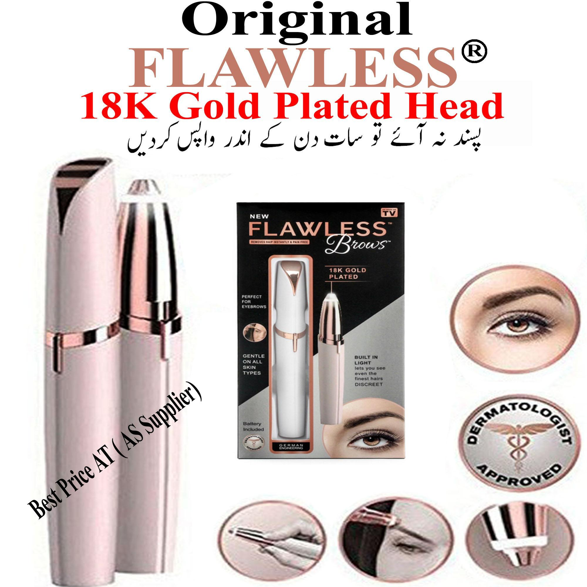 Electric Ladies Flawless Eyebrows Painless Hair Remover Machine