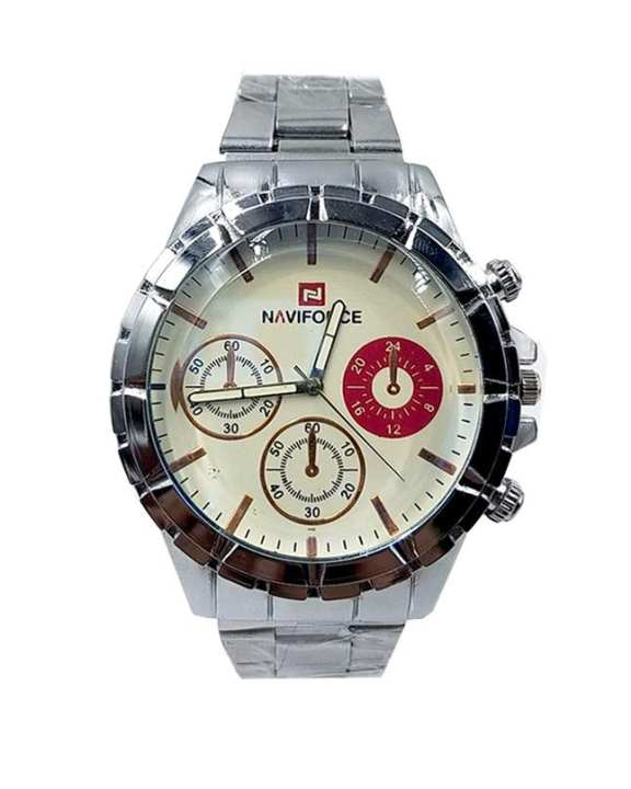 Silver Chain Wrist Watch For Men