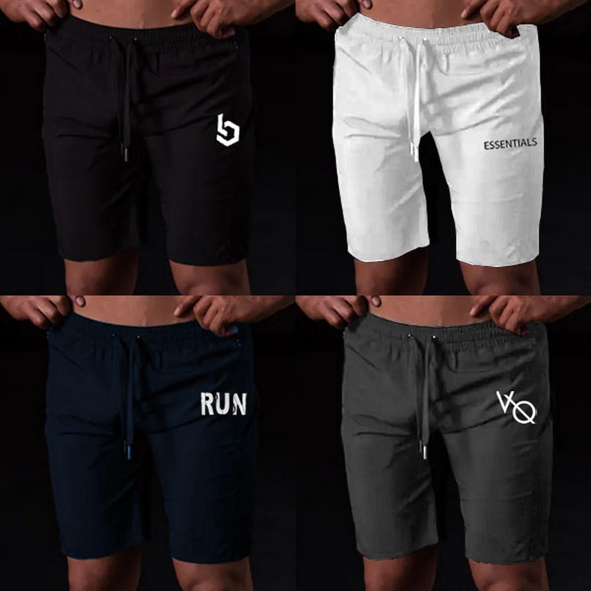 Pack of 4 Summer Gym Fitness Shorts For Men