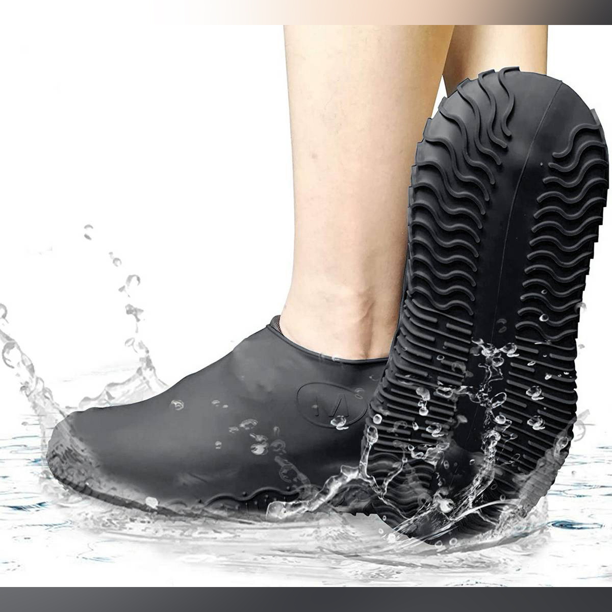 Shoe Cover Silicon Gel Waterproof Rain Shoes Covers Reusable Rubber Elasticity Overshoes Anti-slip for Boots Protector