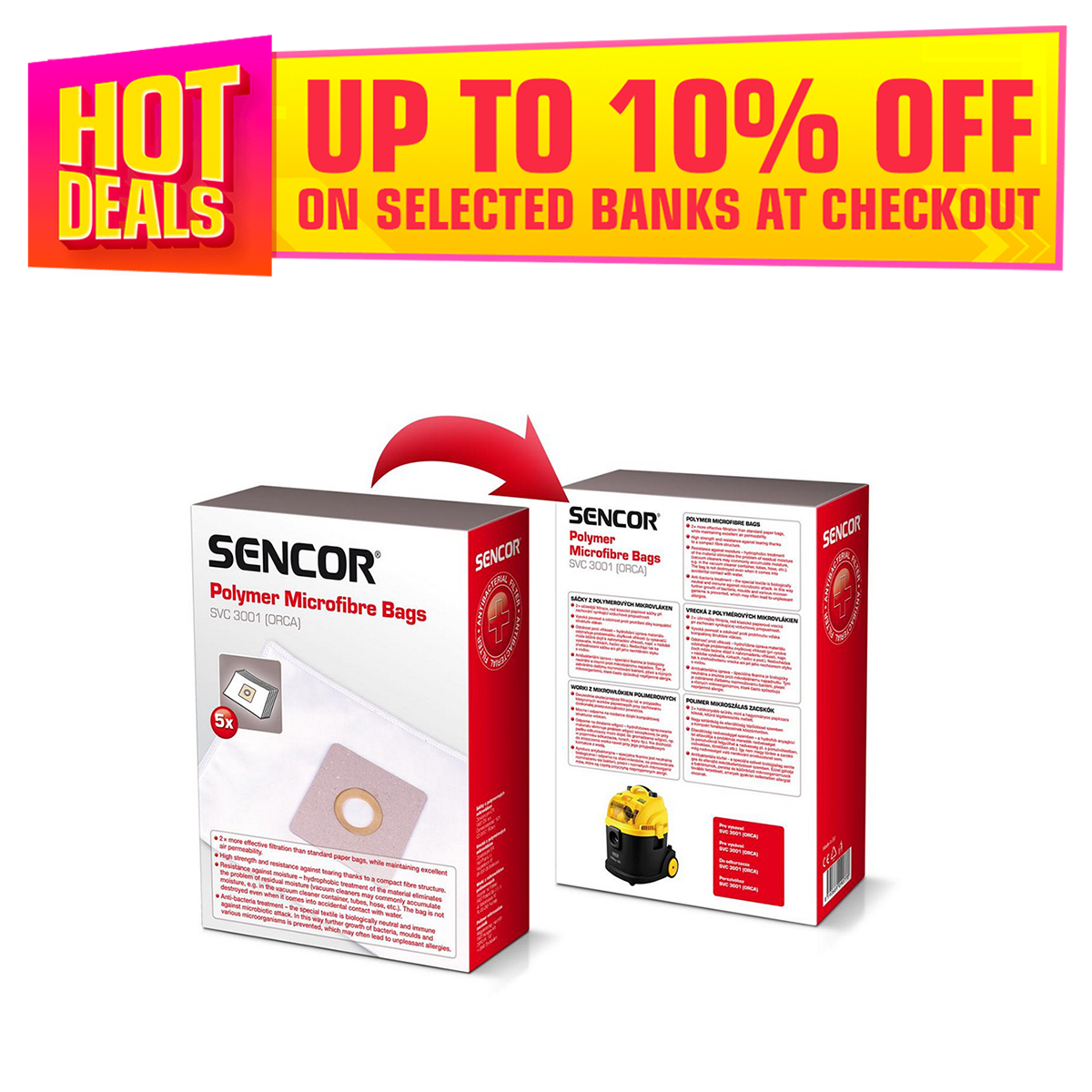 Sencor Micro Fiber Bags SVC 3001