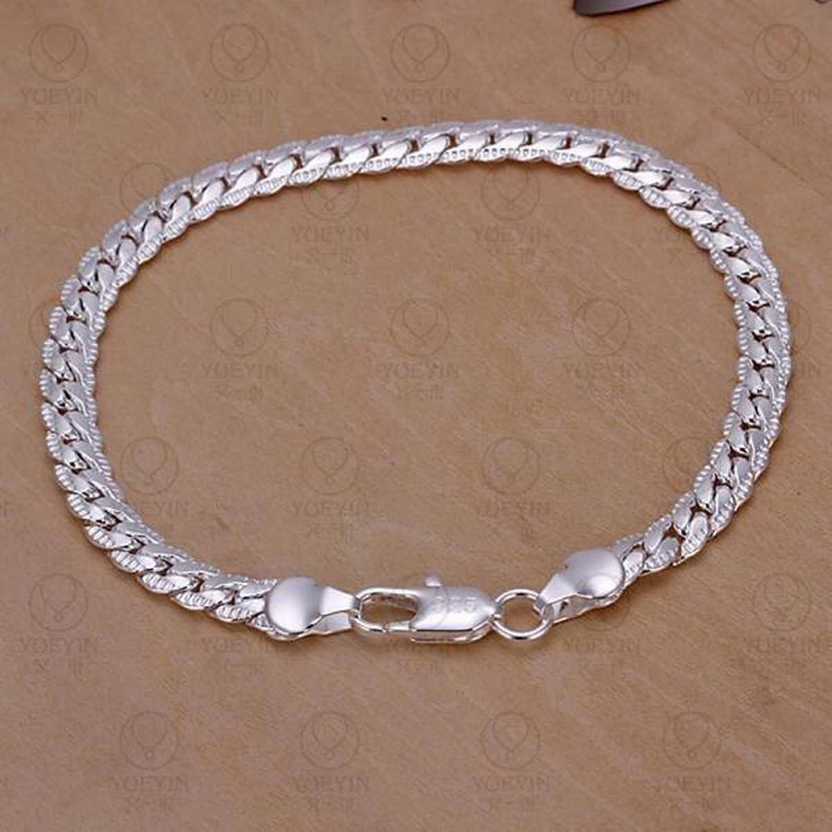 Charm Bracelets Chain silver plated bracelet for women men unisex jewelry hand chain for Gift