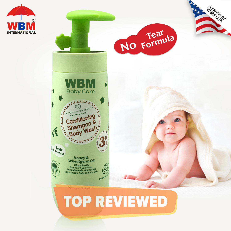 WBM Baby Shampoo 3 in 1(Shampoo + Body Wash and Conditioner) - 300 ML | Made In USA