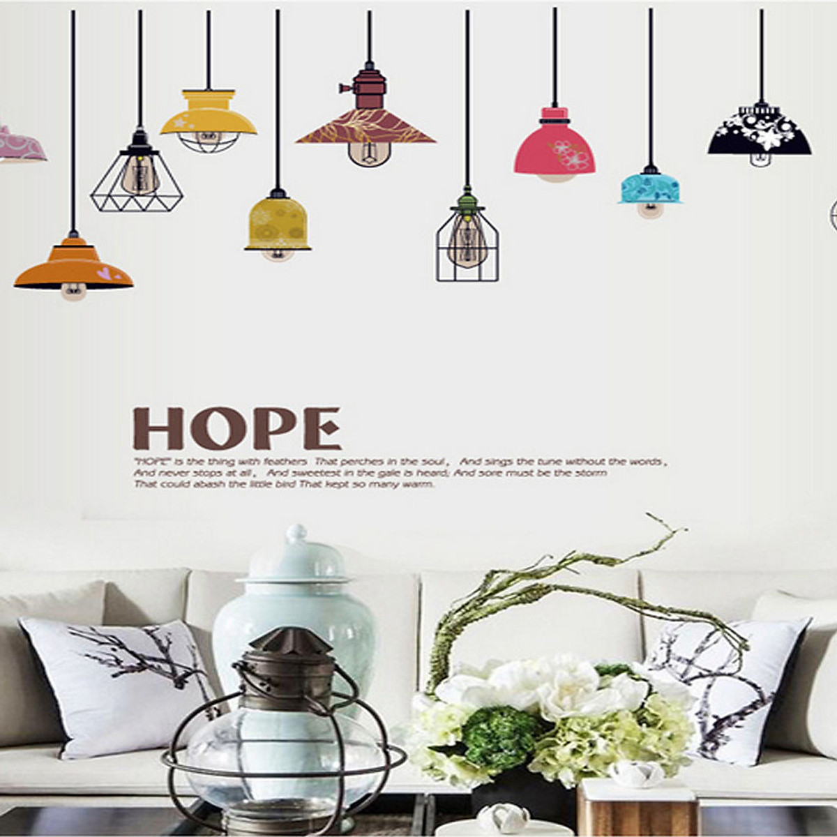 Sk9144 Colorful Light Lamp Wall Sticker