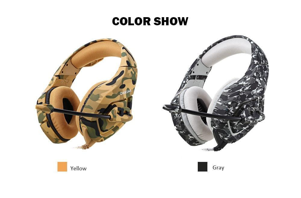 b4b1bbe0c62 Specifications of K1 - Stereo Wired Gaming Heavy Bass Over-Ear Game  Headphone With Micro For Pc,Ps4,Xbox One - Camouflage. Brand. ONIKUMA