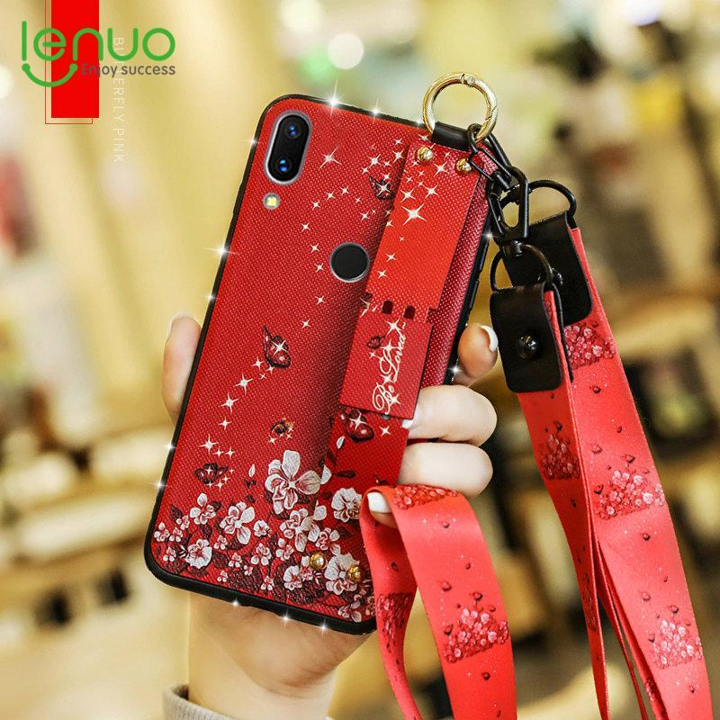 separation shoes 497ed 6d799 Lenuo Case for Huawei Y9 2019 and Enjoy 9 Plus Silicone Phone Cases - Full  Body Soft Protective Skin Cover Rhinestone Pattern with 2 Detachable ...
