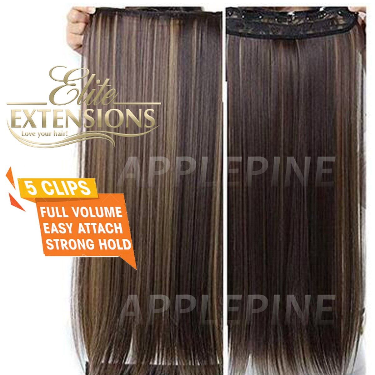 Ombre Hair Extensions for Women 5 Clips 30 Inches - Used With Hair Styling Stick Bun Fashion Maker Hair Puff Maker Comb Sponge Hair Make Pad Comb hair Hair Puff Hairstyle Device