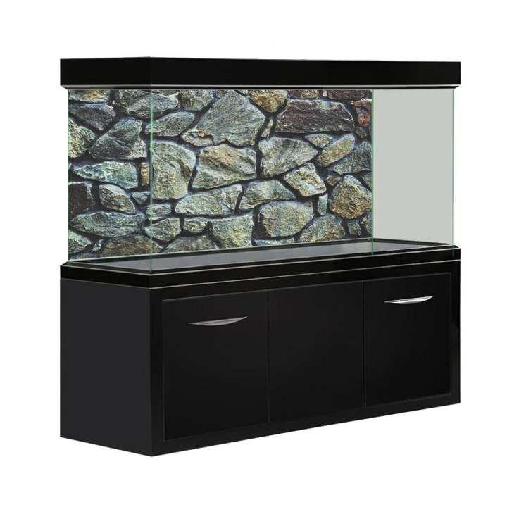 HD Rock Stone Aquarium Fish Tank Background Poster PVC Landscape Decorations # 122x76cm