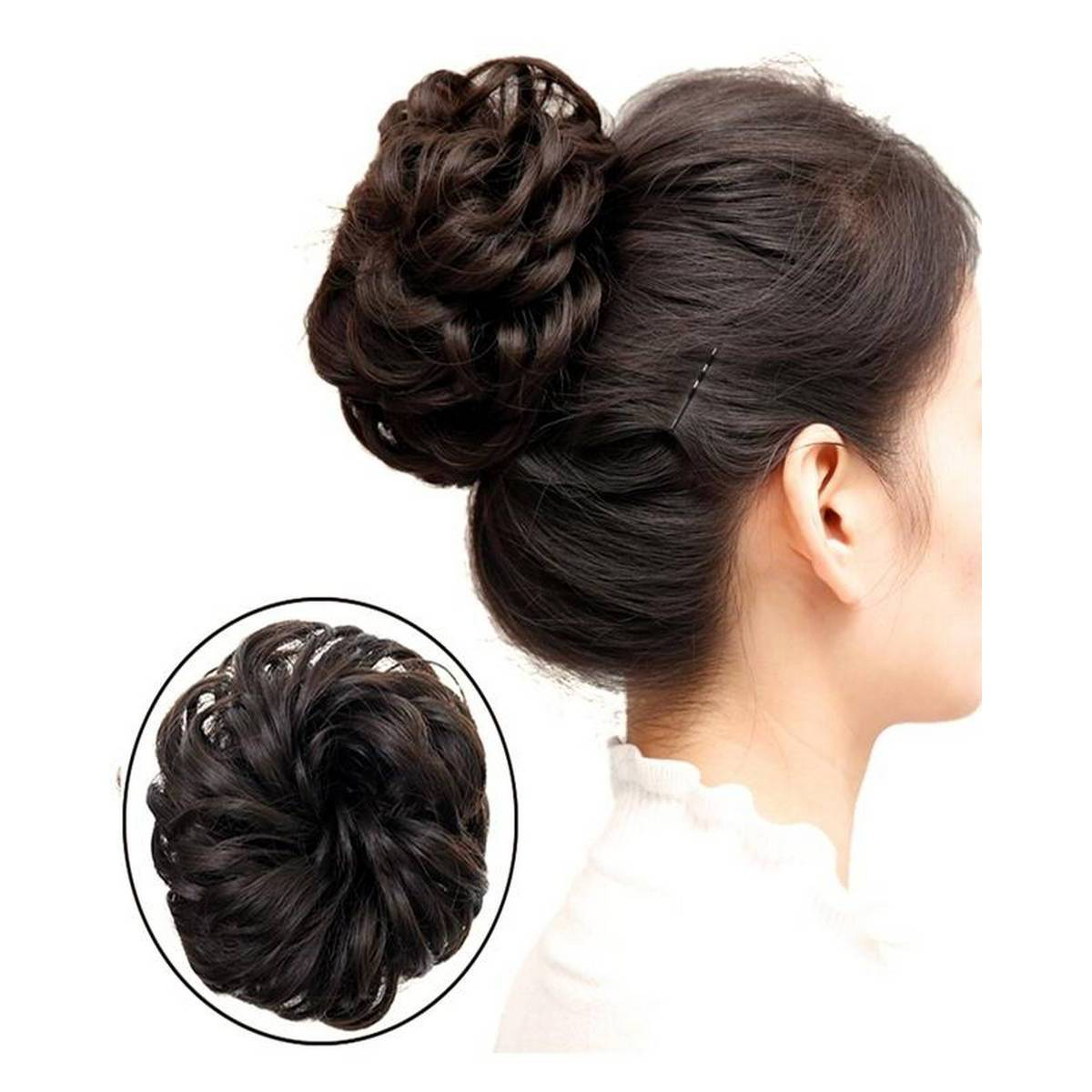 Synthetic Hair Chignons Elastic Scrunchie Extensions Hair Ponytail Bundles Updo Hairpieces Hair Buns