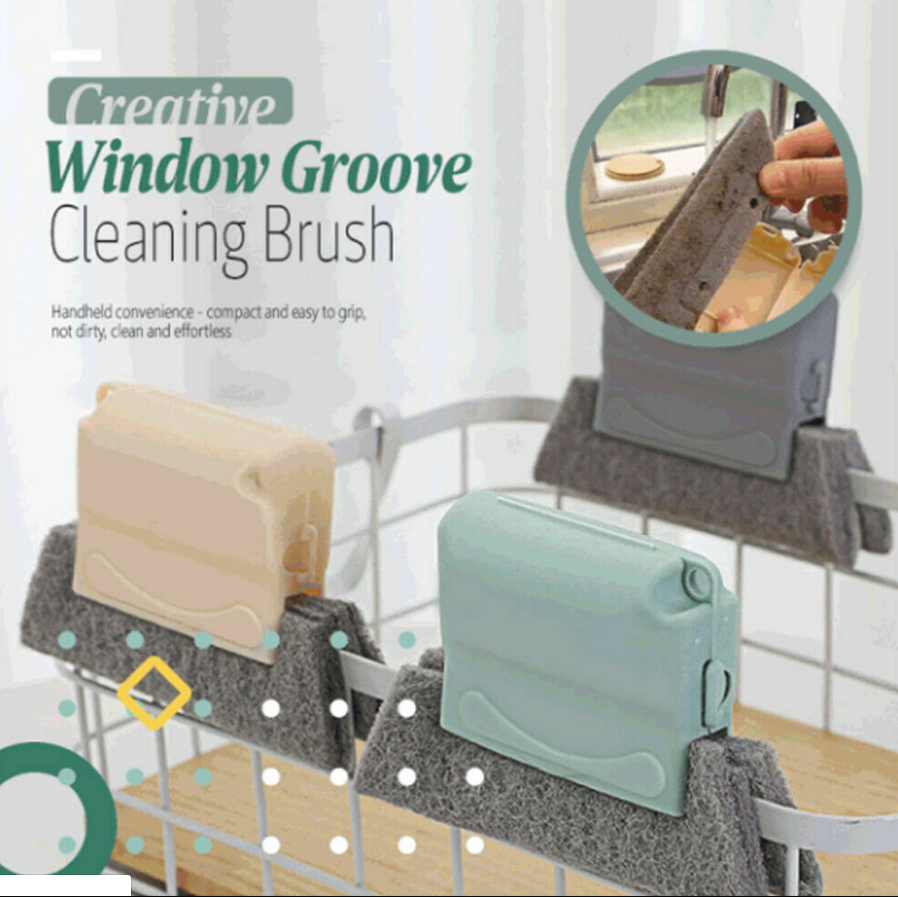 Multipurpose Windows Groove Cleaning Brush Window Cleaner Window Groove Cleaning  Brush Windows Rust Cleaner Toilet Seat Corner Cleaning Sponge Kitchen Corner Cleaning Sponge Stove rust removing tool Stove Cleaner Foam Cleaning Gadget