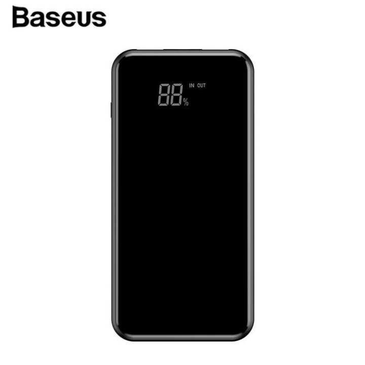 Baseus LCD 8000mAh QI Wireless Charger 2A Dual USB Power Bank