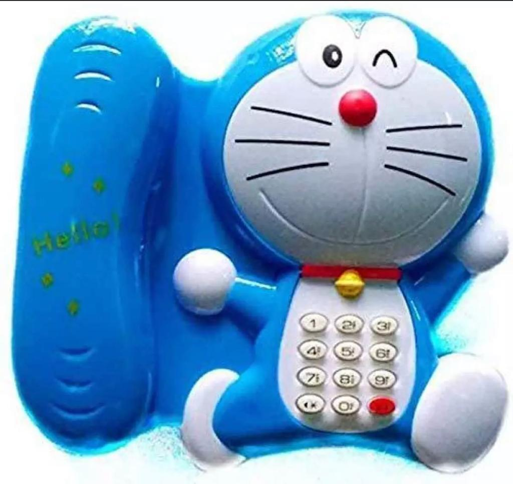 Karachi Trading Doremon Learning Telephone Musical Toy for Kids - Multicolour