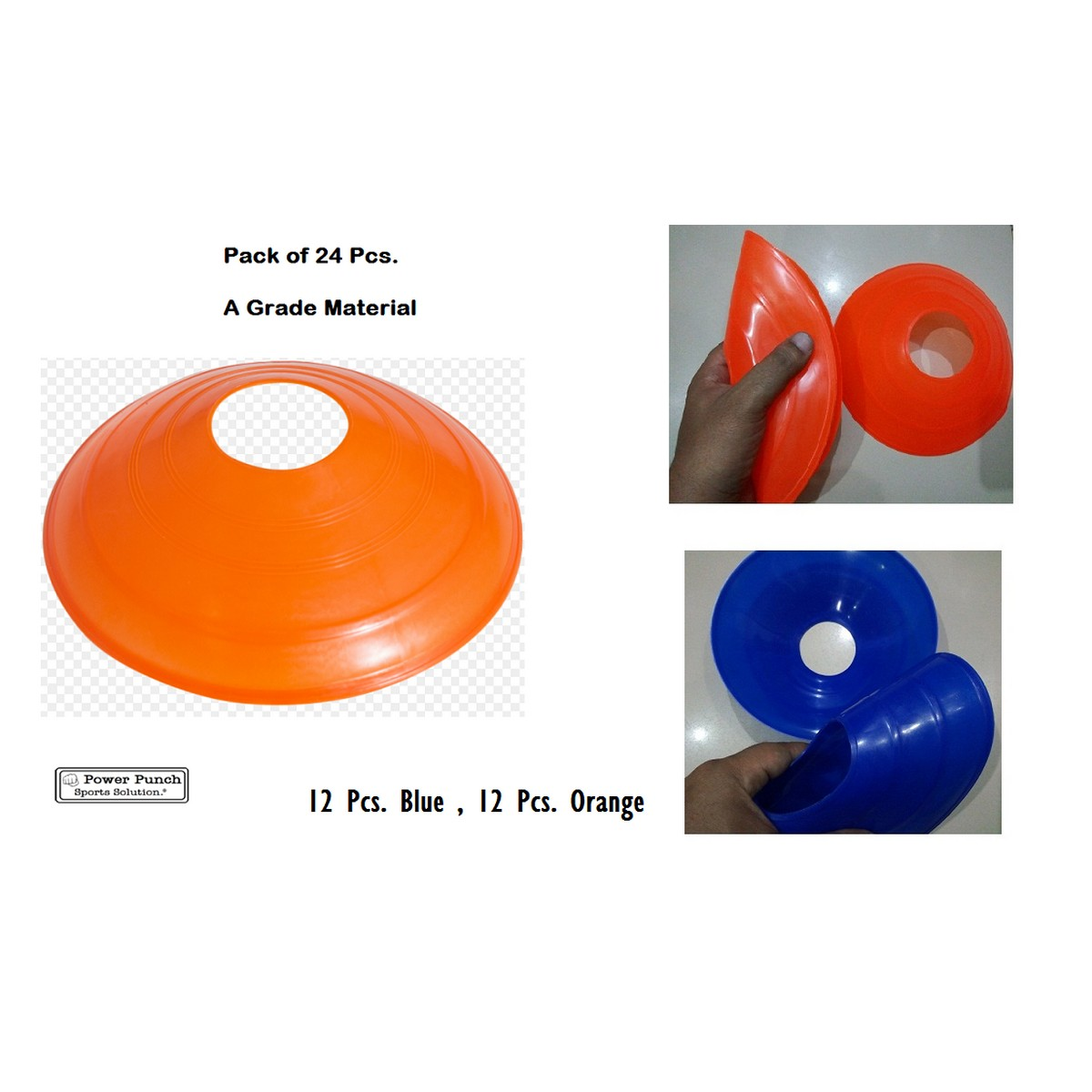 24 Pack-Football Training Cones Hockey road safety goal keeper disk space marking
