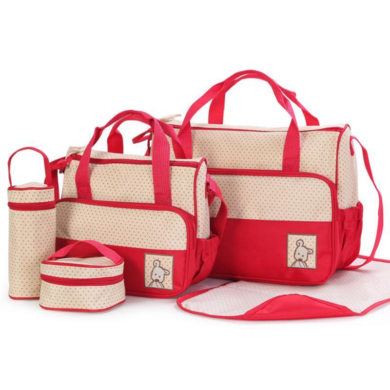5pcs/set Multi-function Baby Diaper Bag For Mom Baby Bottle Holder