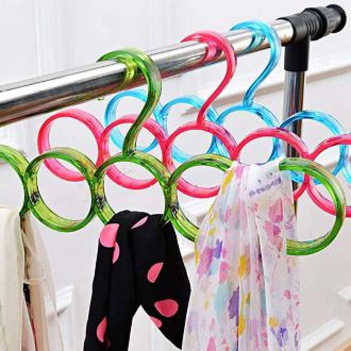 150 Black Scarf Shawl Hangers Tie Holder Organizer Hanger Plastic Storage Round