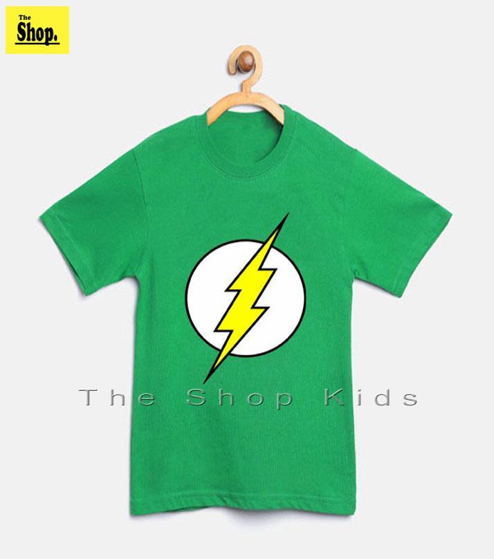 The Shop - Green Super Hero Flash T-shirt For Kids - Sh-gf1