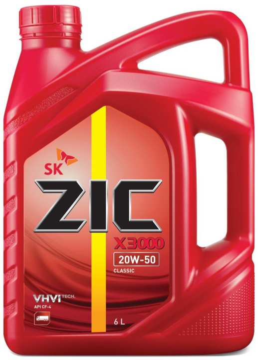 ZIC X3000 20W-50/CF-4 (DIESEL ENGINE OIL) 6L