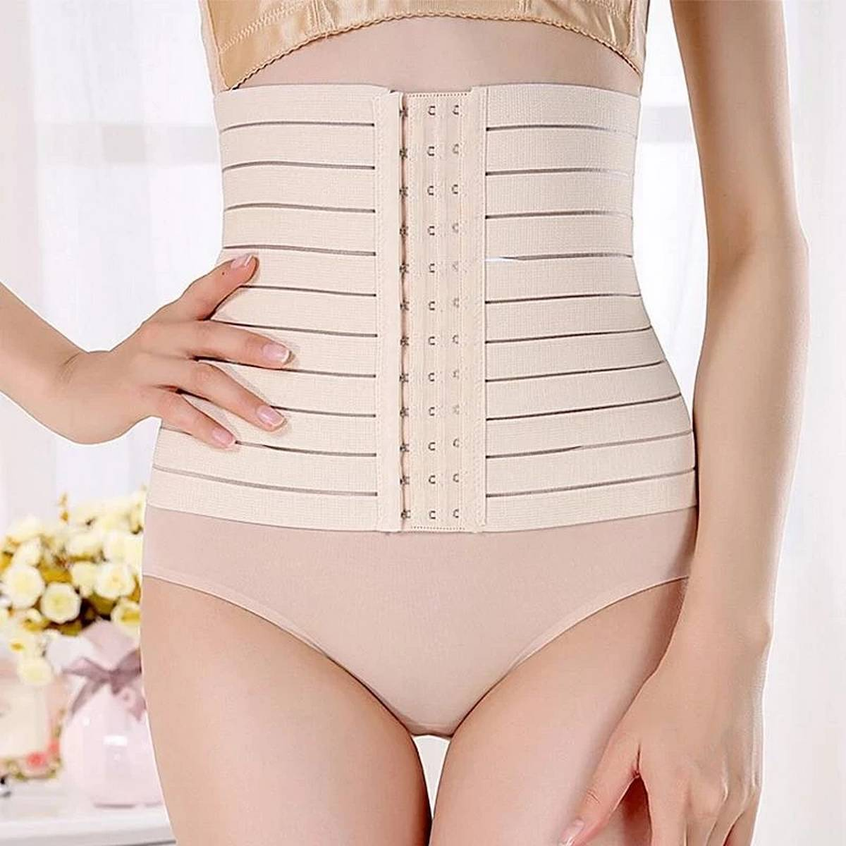 Loose Belly Shaper Tummy Shaper Trainer Belt with Hooks