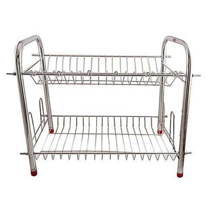 Stainless Steel Dish Rack Stand - 2 Rows