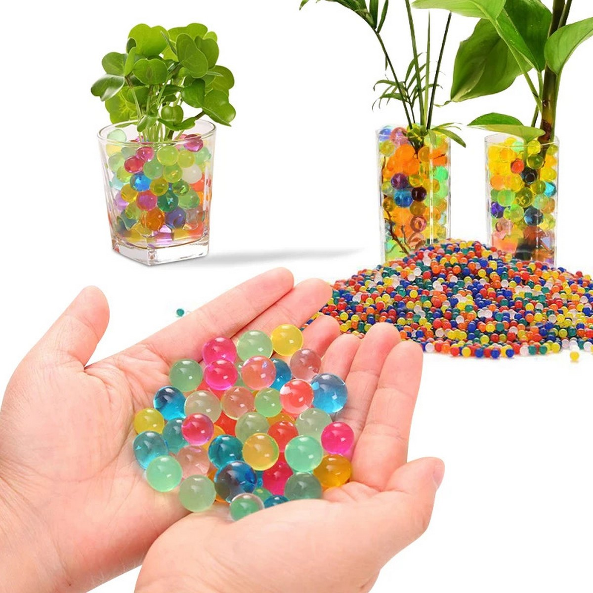 1000 Pcs Colored Orbeez Soft Crystal Water Balls Magic Also Use In Decoration Table Plants And Many More