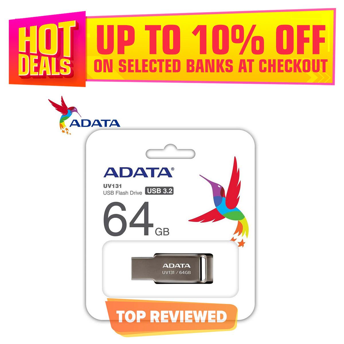 Adata 64GB UV131 Metallic Jet Flash Drive USB 3.2 Gen 1