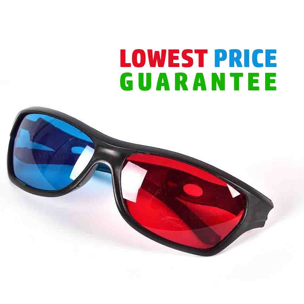 Red Cyan Blue Analyph Plastic 3D Glasses For 3D Movies