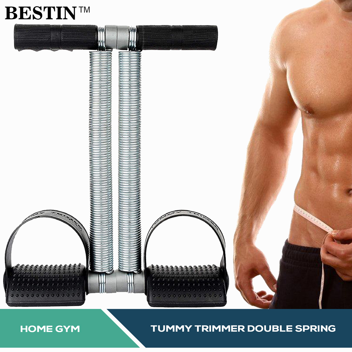 TUMMY TRIMMER BALLY FAT BURNER BODY EXERCISER WEIGH LOSS HOME GYM HOME WORKOUT ARM MUSCLE BUILDER SINGLE AND DOUBLE SPRING