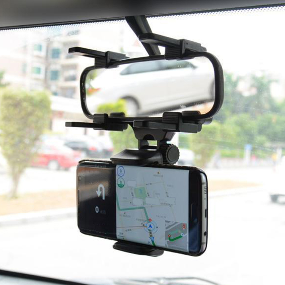 360 Degree Rotation Car Rearview Mirror Mount Mobile Phone Stand Bracket  Holder: Buy Online at Best Prices in Pakistan | Daraz.pk
