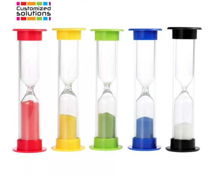 Set Of 5 Hourglasses Sand Glass Clock Timer Home decor Table Decoration