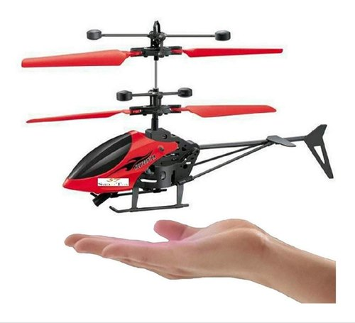 Flying Mini Infrared Induction Helicopter without Remote Control Rc Helicopter Infrared Sensor - Red