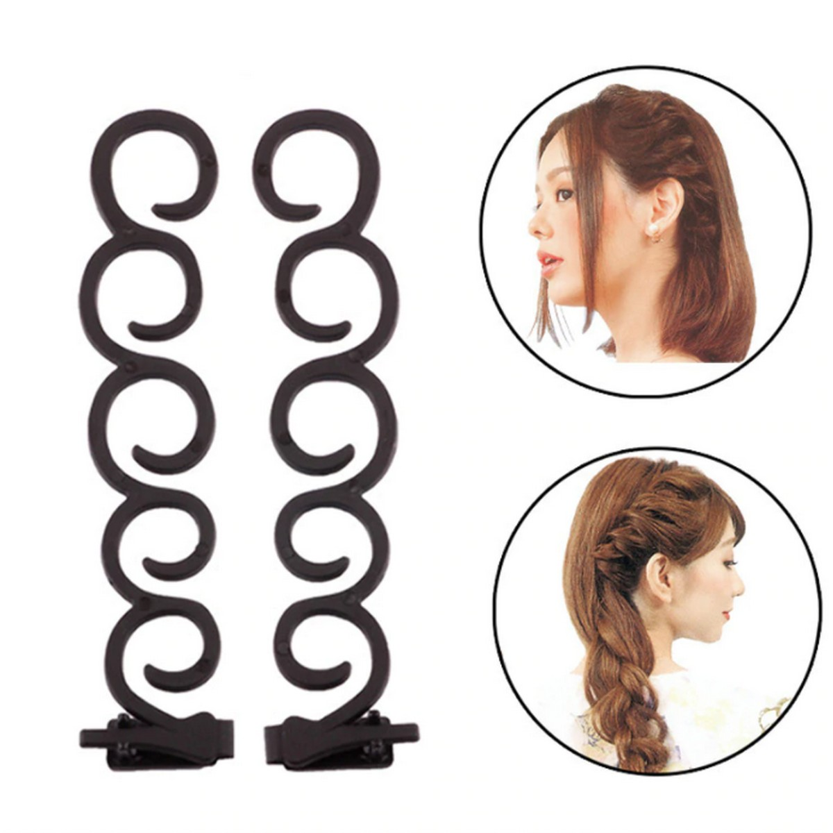 2pcs Hair Styling Tools Weave Braid Hair Brander FOR Females