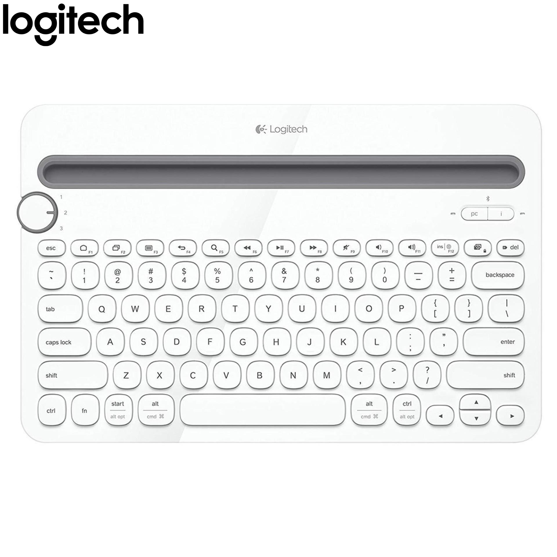 Logitech K480 Bluetooth Multi Device Keyboard - White